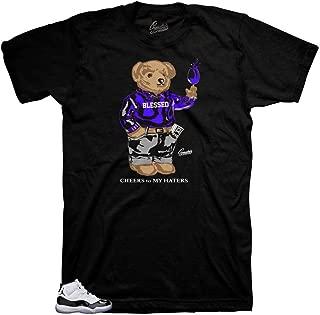 Tee Shirt Match Jordan 11 Concord - Cheers Bear Sneaker Tee