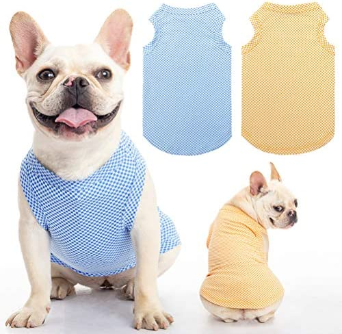 Dog Shirt Vest 2 Packs Soft Breathable Instant T Shirt Absorb Water and Evaporate Quickly for product image
