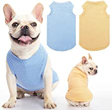 Dog Shirt Vest 2 Packs - Soft Breathable Instant T Shirt, Absorb Water and Evaporate Quickly for Dogs Cats Puppy