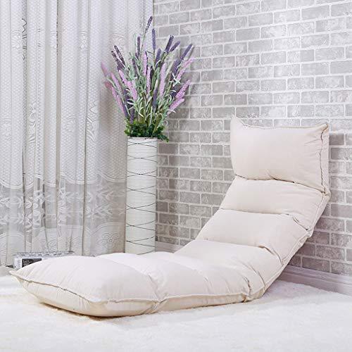 LJM- Étudiant Lazy Chair, Dortoir du Collège Artifact Floor Chair Chaise de jeu pliable Chair Floor Chair (Couleur : Blanc)