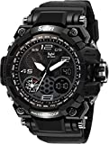 Vilam Sports Fashion Casual Multi-Function LED Back Light Waterproof Analog Digital Black Dial Men's Watch (Made in India)