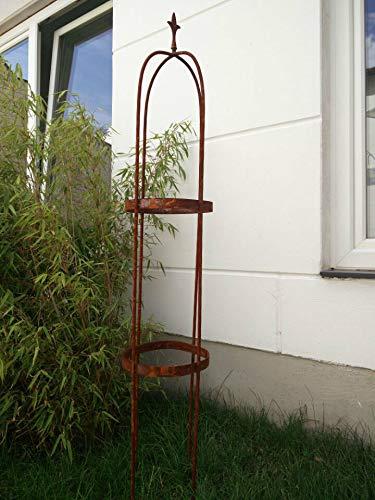 Zen Man Garten Rankhilfe aus Metall Rost Ranksäule Edelrost Rosenbogen H180cm und H160cm (031794-2: 31 * 31 * 150cm)