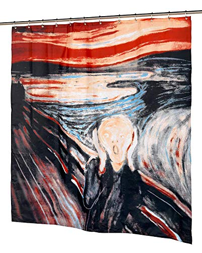 YCDtop Home Fashions The Scream Fabric Shower Curtain Funny Unique Bathroom Polyester Waterproof Decor 180x180cm(71x71in)