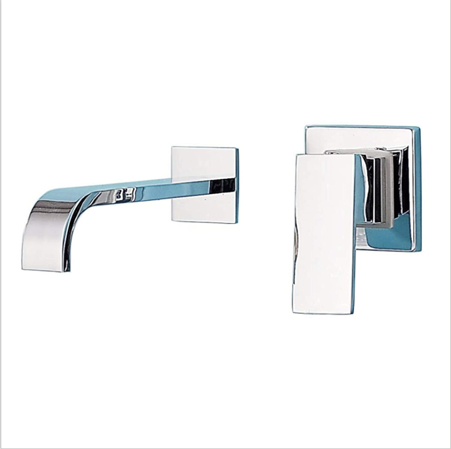 Kitchen Sink Taps Bathroom Taps Hidden Basin Faucet Hotel Bathroom Wall-Type Hot and Cold Water Table Up and Down Washstand Faucet