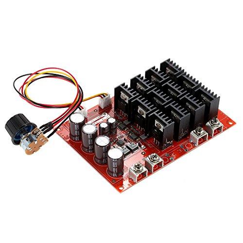 KKmoon 10-50V/60A/3000W DC Regolatore di Velocità del Motore Motor Speed Control PWM HHO RC Controllore 12V 24V 36V 40V 50V Regolator di Velocità (con caso)