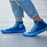 シューズカバー防塵最高品質の女性のマンTPEインテグラカビ防水再利用可能な高雨靴カバー雨ブーツアンチスキッド (Color : Blue 1, Size : L (42 44))
