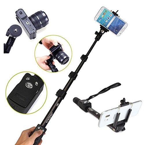 Yunteng 1288 Handheld allungabile telescopica Bluetooth monopiede Selfie Stick con la ripresa esterna per GoPro Telefono DSLR