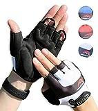 Halbfinger Radsport Handschuhe, Fahrradhandschuhe für Herren und Damen, für Rennrad, Mountainbike,...