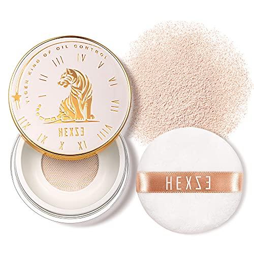 HEXZE Loose Face Powder Mineral, Mattifying Setting Powder, Blurring Pores, Baking Controls Shine, Lightweight Long Lasting 0.24 Oz, T30 Pink
