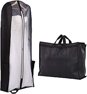 FTBY Women's Wedding Dresses Garment Bag Dust Cover Storage Travel Bag Foldable Protective Cover for Evening Prom Dress