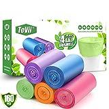 ToVii Kleine Müllbeutel, 160 Karat, für Badezimmer, Zuhause, Büro, mehrfarbig