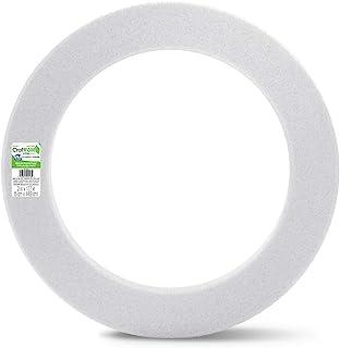 FloraCraft W18WS/6 Styrofoam Wreath, 18 x 2-1/2 x 2, White