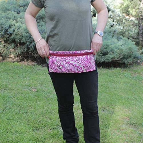 Riñonera Polinesia - Lila - Bolso cinturón hecho a mano en lona y algodón, cerrado con cremallera