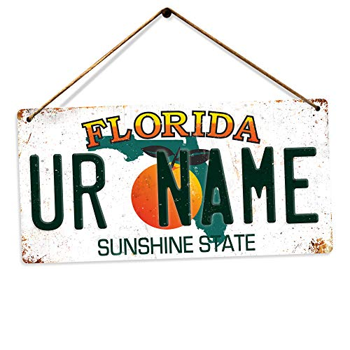 Personalised American Number Plates - Custom Florida – Holes and Twine | Printed Metal Wall Sign Plaque Show Plate