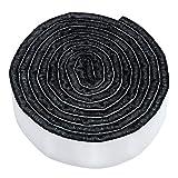 Adsamm® | selbstklebendes Filzband zum Zuschneiden | 19x1000 mm | Schwarz | Rolle | 3.5 mm starker selbstklebender Filzzuschnitt in Top-Qualität