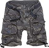 Brandit Hombre Savage Vintage Shorts - Camuflaje Oscuro, L