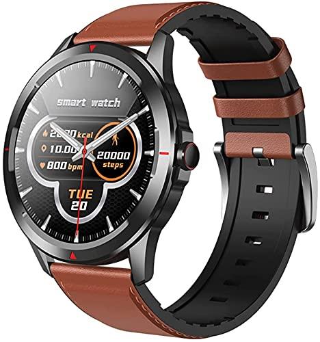 Reloj inteligente para hombres, rastreador de ejercicios con oxígeno en sangre, presión arterial, monitor de frecuencia cardíaca, reloj resistente al agua 5ATM, compatible con iPhone de Huawei(B)