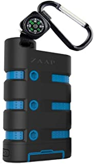 ZAAP® (USA) 9100mAh Lithium – ion Battery, Waterproof/Shockproof/Dirtproof/Rugged Power Bank (Black and Blue).Best Power Bank Under 3000 in India in 2021
