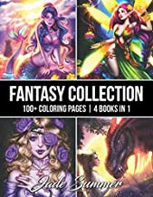 Fantasy Collection: An Adult Coloring Book with 100+ Incredible Coloring Pages of Mermaids, Fairies, Vampires, Dragons, and More!