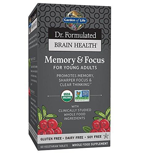 Garden of Life Dr. Formulated Organic Brain Health Memory & Focus for Teens...