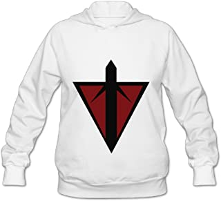 Terran Republic Logo Sports Vintage Hooded Sweatshirt Pretty Women White