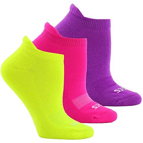 ASICS Womens Cushion Low Cut 3-Pack Socks Running Socks Low Cut Breathable - Pink - Size M