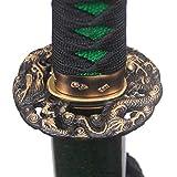 Full Handmade Katana Sword Real Battle Ready Samurai Sword Hand Forged,Damascus Folded Steel,Full Tang,Very Sharp