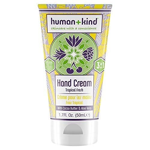 Human+Kind - Hand-Elbow-Feet Cream - Tropical Fresh - Dérivé naturel 99,45% - 3 en 1 - Avec du Beurre de Cacao et de L'aloe Vera - 1,7 fl oz/50 ml
