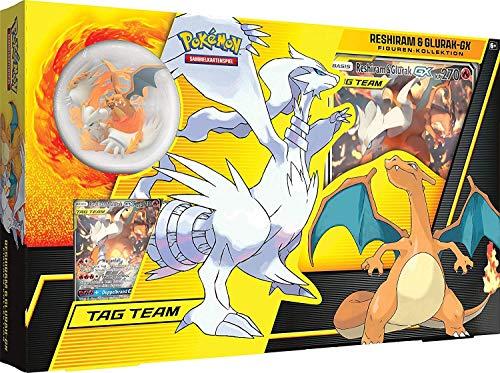 Lively Moments Pokemon Karten Sonne & Mond Figur Kollektion Reshiram & Glurak-GX / Spielkarten mit Spielfigur DE Deutsch / Sammelkarten