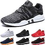BAOLESEM Herren Sportschuhe Atmungsaktiv Gym Laufschuhe Leichtgewicht Turnschuhe Freizeit Outdoor Sneaker, 43 EU,2 Grau