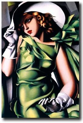 Amazon Com Eurographics Young Girl In Green By Tamara De Lempicka Fine Art Print Poster 24 X 36 Vintage Posters Posters Prints