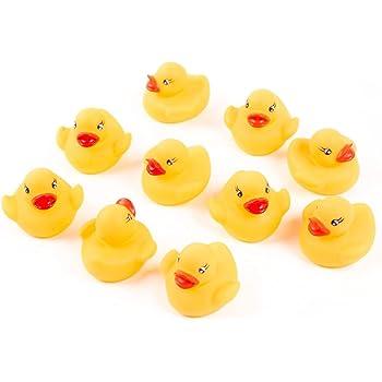 【安心の3ヵ月保障】衛生的で安心!アヒルちゃん お風呂が楽しくなる おもちゃ 穴なし加工 お手入れ楽チン (10個)