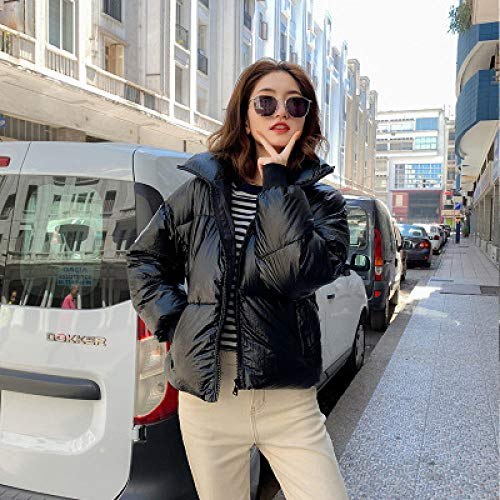 ski pak JSGJHXFWomen Winter Ski Jacket 2019 Winter Glossy Down Parka Dames Jassen Winter Warm Outdoor Bovenkleding Blauw Dikke Parka