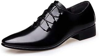 [Agogoo] 紳士靴 レースアップカジュアル メンズシューズ オールシーズン 革靴 メビジネスシューズ 外羽根 普段用