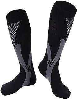 healthwen Unisex Hombres Mujeres Soporte de Pierna Estiramiento Magia Calcetines de compresión Deportes Correr