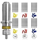 30個(30/45/60度)AFUNTAブレードビニールカッタープロッターカッティングブレード対応ローランド&ほとんどのプロッタ。ブレードホルダーベース付き