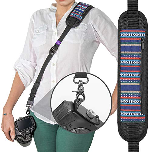 Handschlaufe/Nackengurt Pro, schwarz, Shoulder Neck Strap Vintage Design