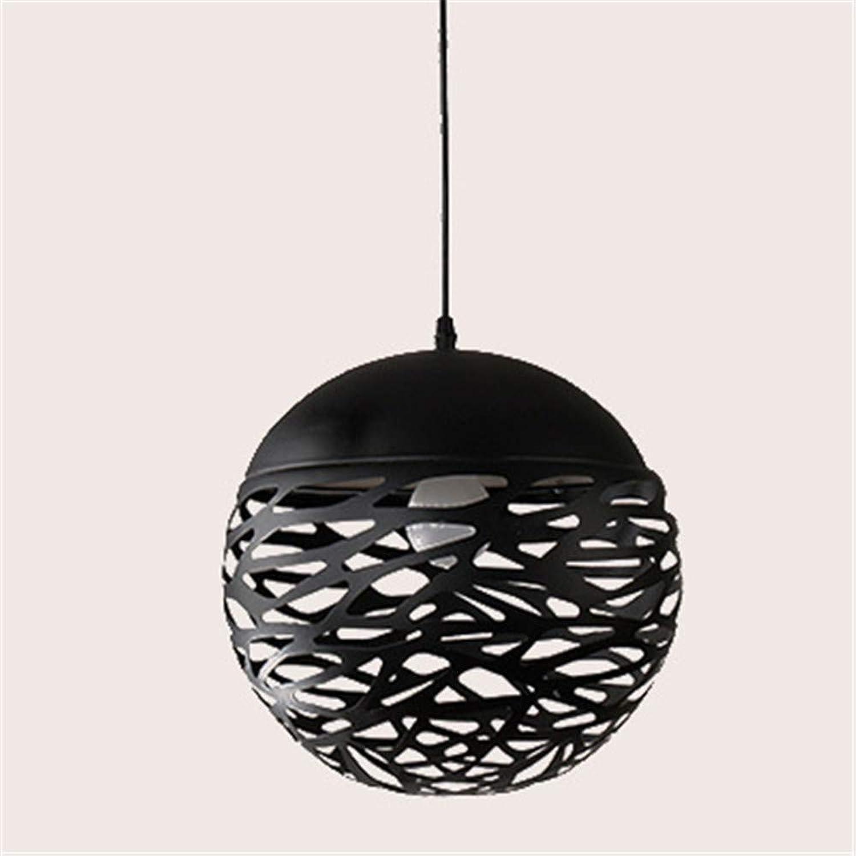 Beleuchtung Innen Schlafzimmer Wohnzimmer Beleuchtung Cafe Decke Schmiedeeisen kugelfrmigen Kronleuchter, 20 × 20 × 20 cm, schwarz