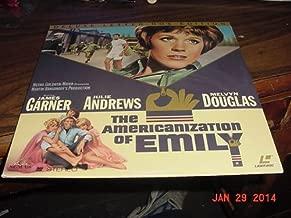 Laserdisc Laser Disc Of THE AMERICANIZATION OF EMILY a WWII Movie With JAmes GArner, Julie Andrews, James Coburn And Melvyn Douglas.