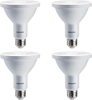 Philips LED Dimmable PAR30L 25-Degree Spot Light Bulb: 750-Lumen, 3000-Kelvin, 8-Watt (75-Watt Equivalent), E26 Base, Bright White, 4-Pack