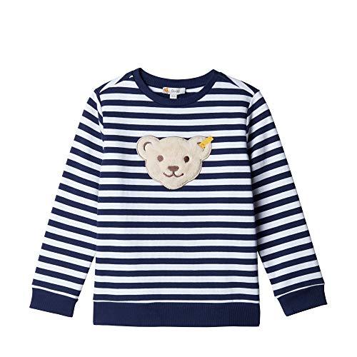 Steiff Jungen Sweatshirt , Blau (PATRIOT BLUE 6033) , 122 (Herstellergröße:122)