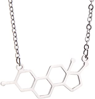 KUIYAI Estrogen Molecule Necklace Female Symbol Necklace Gift for Women