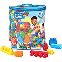 80-Pieces Mega Bloks First Builders Big Building Bag with Big Building Blocks