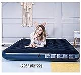 HongTeng Aufblasbares Bett Lazy Couch Home Outdoor Camping Tragbares Luftkissen Schlafsofa Bettlaken Menschen Doppel Fünf Technische Daten (Size : L)