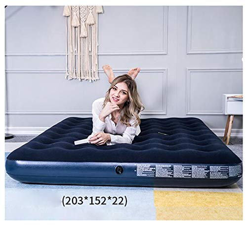 XinQing-Lazy Sofa Inflatable Bed Lazy Couch Home Outdoor Camping Portable Air Cushion Sofa Bed Sheet People Double Five Specifications (Size : L)