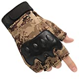 Fingerless Gloves Men, Driving Leather Gloves,Unlined with Vent Holes,Soft Comfortable Breathable Black Non-slip