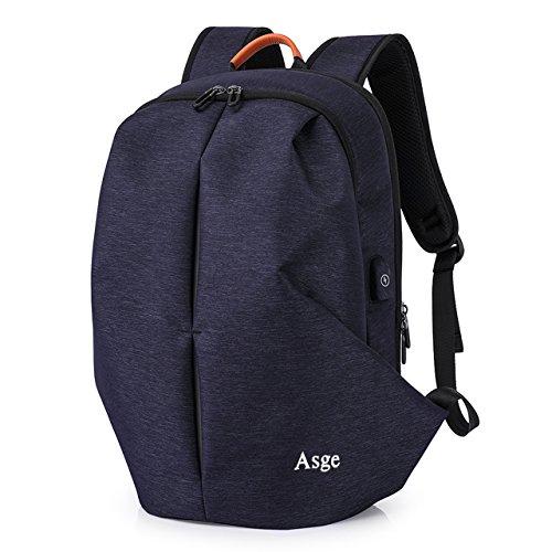 Asge Einfarbig Rucksack Herren Schulrucksack Jungen Daypack wasserfest Schultasche Hochschule Backpack Business Laptoprucksack 15 6 Zoll