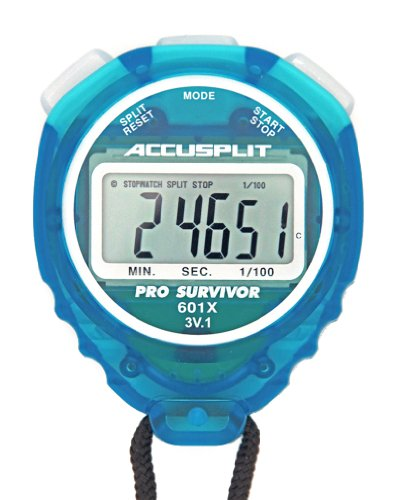 ACCUSPLIT Pro Survivor - A601XBK Stopwatch, Clock, Extra Large Display (Aqua)
