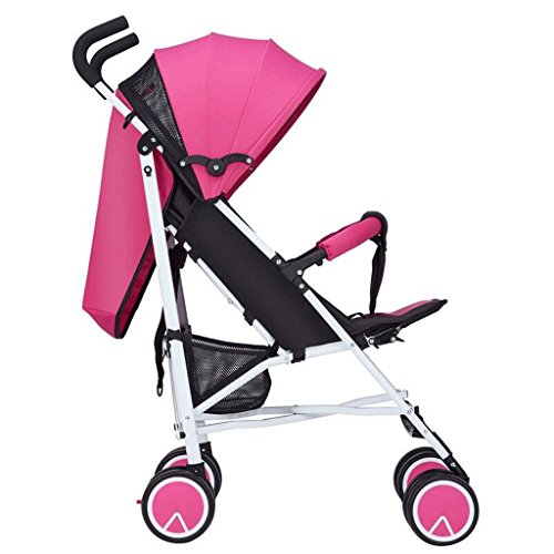 Can Sit Lying Baby Strollers Chariot Pliable Portable Ultra léger bébé Simple GAOLILI (Couleur : Rose)