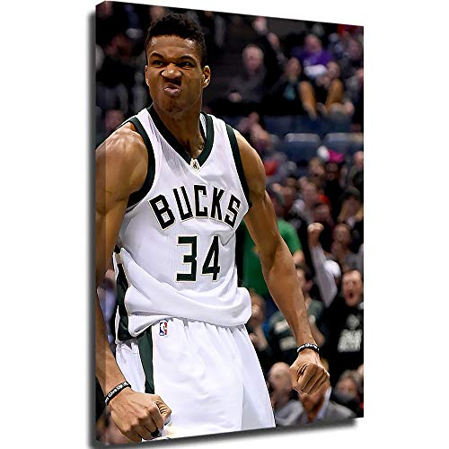 Posters Canvas Wall Art for Bedroom Kostas Antetokounmpo and Giannis Room Home Decor 18x24inch
